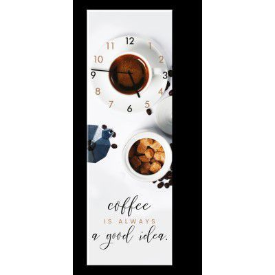 Ceas de perete Coffee GC032, 20 x 60 cm