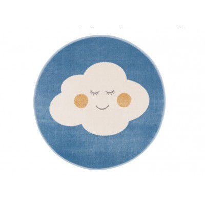 "Covor din PP ""Cloud"" Blue Round, Wilton"
