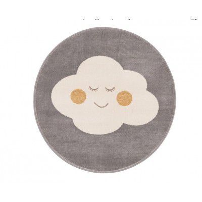 "Covor din PP ""Cloud"" Grey Round, Wilton"