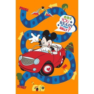 Covor Disney Kids Mickey Cars 88062, Imprimat Digital