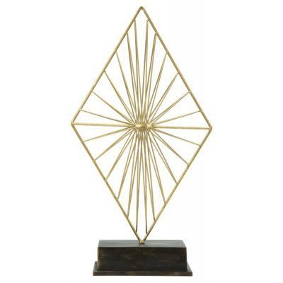 "Decoratiune metalica ""Glam Piry"" Gold / Black, H 50,5 cm"