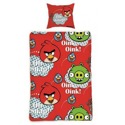 Lenjerie de pat copii Cotton Angry Birds 130