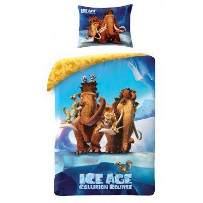 Lenjerie de pat copii Cotton Ice Age IA-7010BL