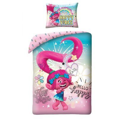 Lenjerie de pat copii Cotton Trolls TM-300BL