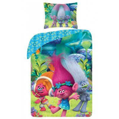 Lenjerie de pat copii Cotton Trolls TM-9009BL