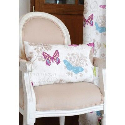 Perna decorativa Butterfly Blanc""""