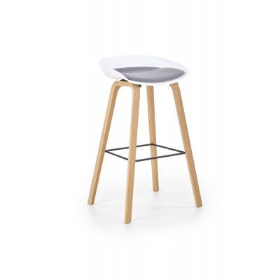 Scaun de bar H-86 White / Grey