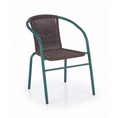 Scaun din rattan sintetic Grand Brown / Green